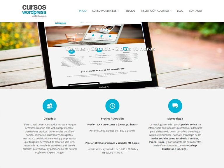 Cursos WordPress Asturias