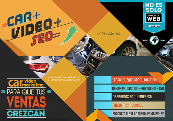 Díptico Car video marketing