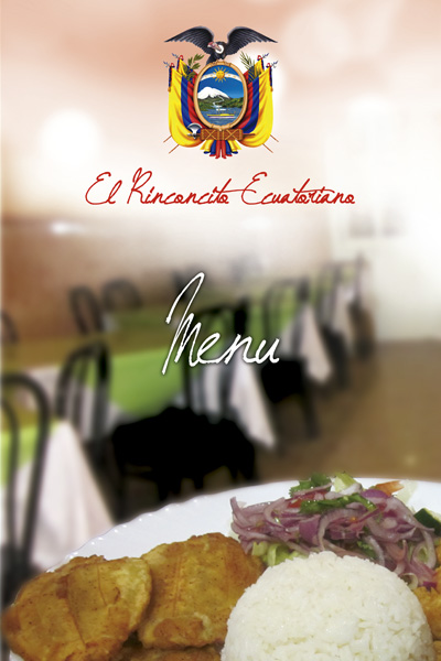Carta restaurante El rinconcito ecuatoriano