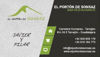Tarjetas El portón de Sonsaz
