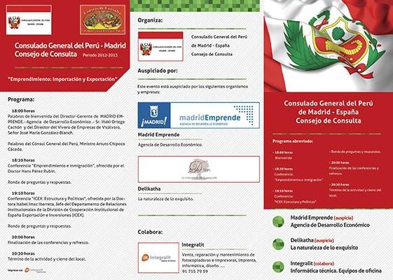 Tríptico Consulado de Perú